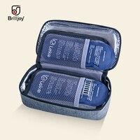 New Portable Insulin Cooler Bag Diabetic Insulin Travel Case Medicine insulation box Aluminum Foil ice bag display temperature|Cooler Bags|   -