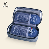 New Portable Insulin Cooler Bag Diabetic Insulin Travel Case Medicine insulation box Aluminum Foil ice bag display temperature