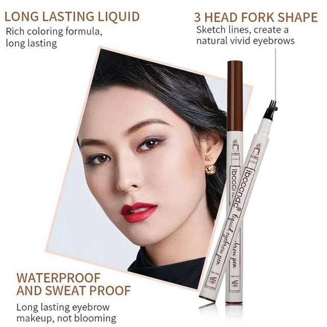 Microblading Eyebrow Pencil Waterproof Fork Tip Brow Eye Pen Long-lasting Professional Fine Sketch Liquid Tattoo Eyebrow Pencil 1
