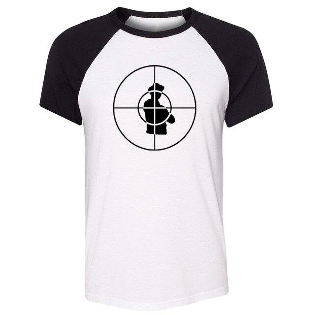 Public Enemy Symbol Raglan Short Sleeve Funny T Shirt Men Women Fashion Personality T-shirt For Boy Girl Cool Male Streetwear