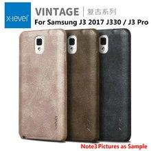 X-level Vintage Retro luxury Ultra thin PU Back Cover For Samsung Galaxy J3 2017 J330 / J3 Pro Phone Cases shell capas fundas