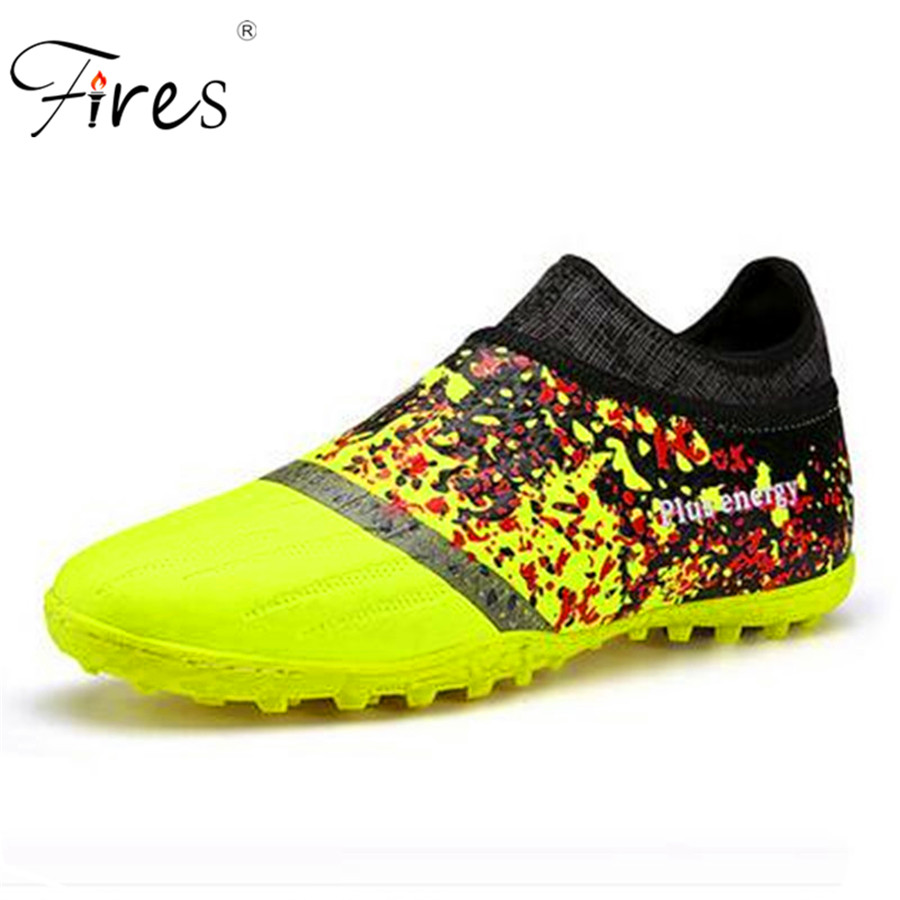 ФОТО Soccer Shoes 2017 Brand Men Sports Shoes Indoor Training Elastic Bottom Football Boots Breathable Artificial Turf Shoes For Man