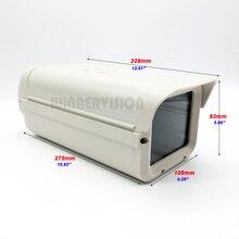 Carcasa de cámara CCTV externa para interior, 275x109x93mm, carcasa de cámara de vigilancia de seguridad, funda protectora de cámara de aluminio gris