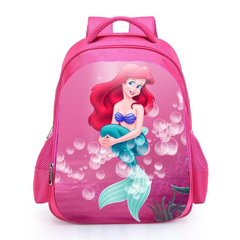 The Little Mermard Ariel Backpack 2018 Pink Princess Kids School Bag Fairy Tale Schoolbag Book Bags for Teen Girls mochila Bolsa (2)