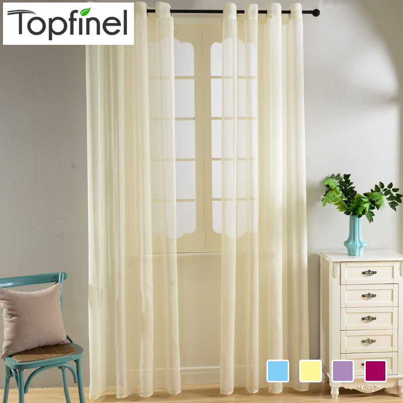 Top Finel Modern Organza Curtains For Kitchen Living Room Bedroom Plain Decorative Window Sheer Cafe Tulle