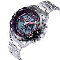 NORTH Mens Watches Top Brand Luxury Dual Display Men's Watch Men Watch Sport Watches Men Clock saat reloj hombre erkek kol saati