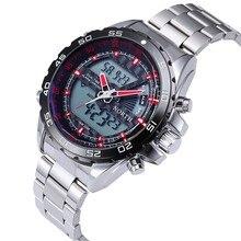 NORTE de Primeras Marcas de Los Hombres de Pantalla Dual del Reloj de Los Hombres Reloj Deportivo de Acero Lleno de relojes de Pulsera Reloj saat horloges relogio masculino mannen