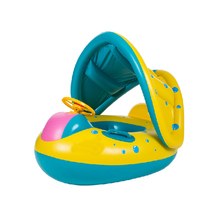 Inflatable boat toy with Sunshade Awning for baby play water bath outdoor swim ring pool Toy Summer ride-on floating
