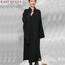 Monaco buddista abbigliamento tradizionale cinese abbigliamento zen buddista  monaco abiti casual nero giallo Buddista robe abito 2d800d0f920