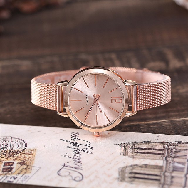 Women Stainless Steel Lady Bracelet Watch vansvar Brand Elegant Dial Quartz Casu