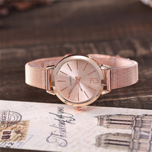 Women Stainless Steel Lady Bracelet Watch vansvar Brand Elegant Dial Quartz Casu