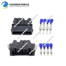 4 Pin car with waterproof connector Black Oxygen sensor with terminal plug Male and female  DJ703+1A-3.5-11/21  4P 4 pin auto male plug car oxygen sensor plug connector for beverly chery citroen etc white color