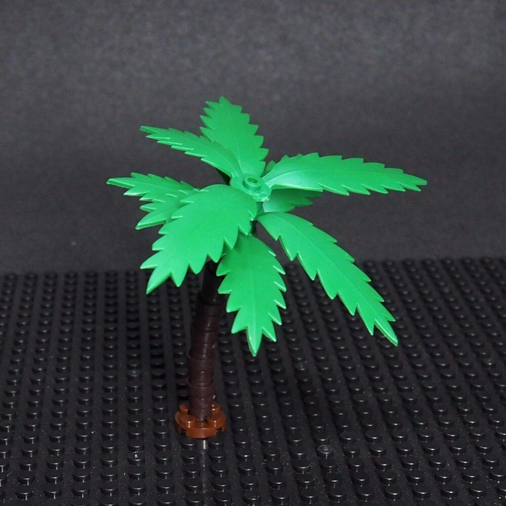DIY Block Brick MOC Parts Grass Flowers Plants Bush Tree Building Blocks Compatible with Legoe Assemble Particle hm136 57pcs large particle building
