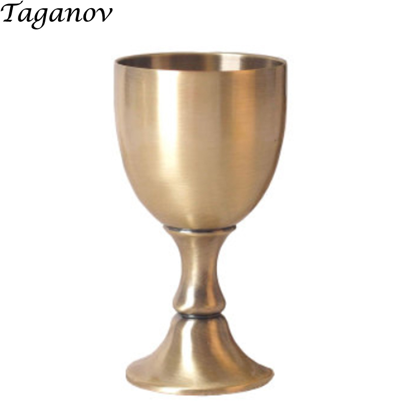 Luxuoso de Metal Único Copo de Licor de Vidro pequeno de Vinho Cálice para o Partido Artesanal de Cobre Puro 100 ML 3.4 OZ Capacidade como amigos Presentes