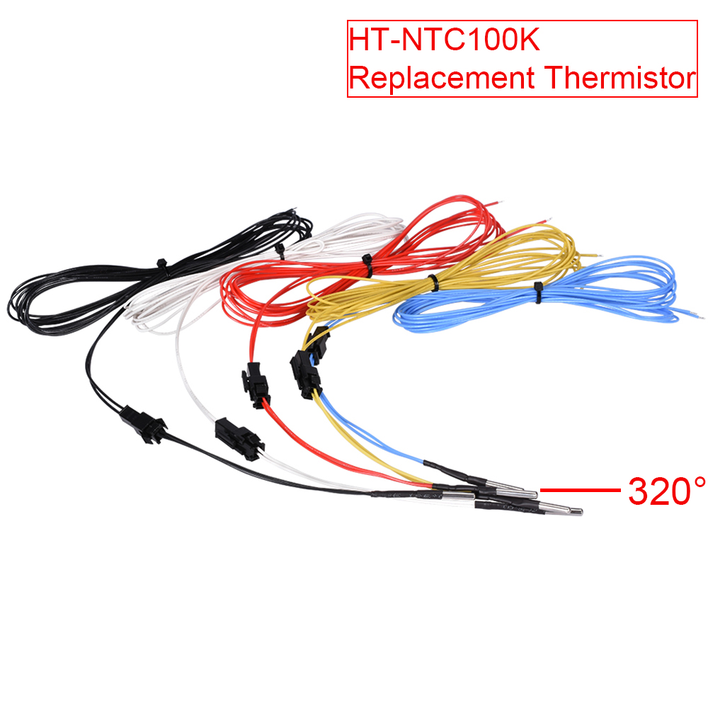 3D Printer Parts HT-NTC100K Thermistor Temperature Sensor Replacement Thermistor NTC 3950 For Heater Block MK2B Ramps 1.4 Hotend