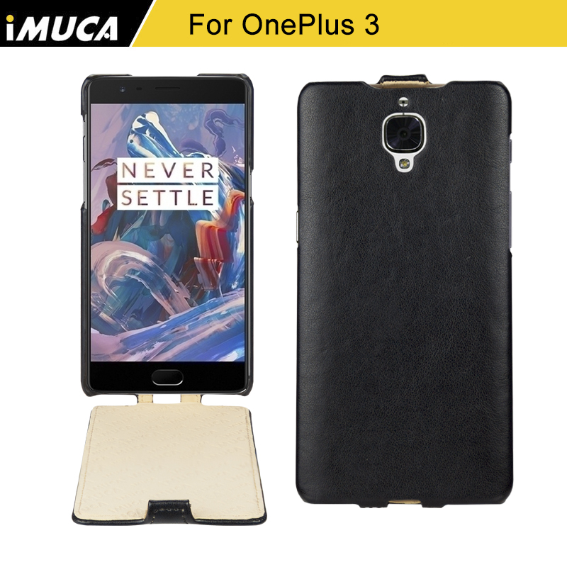 For One Plus 3T Case Luxury Flip Leather Back Cover Case For OnePlus 3T Phone Cases Original iMUCA Case For OnePlus 3 T A3000