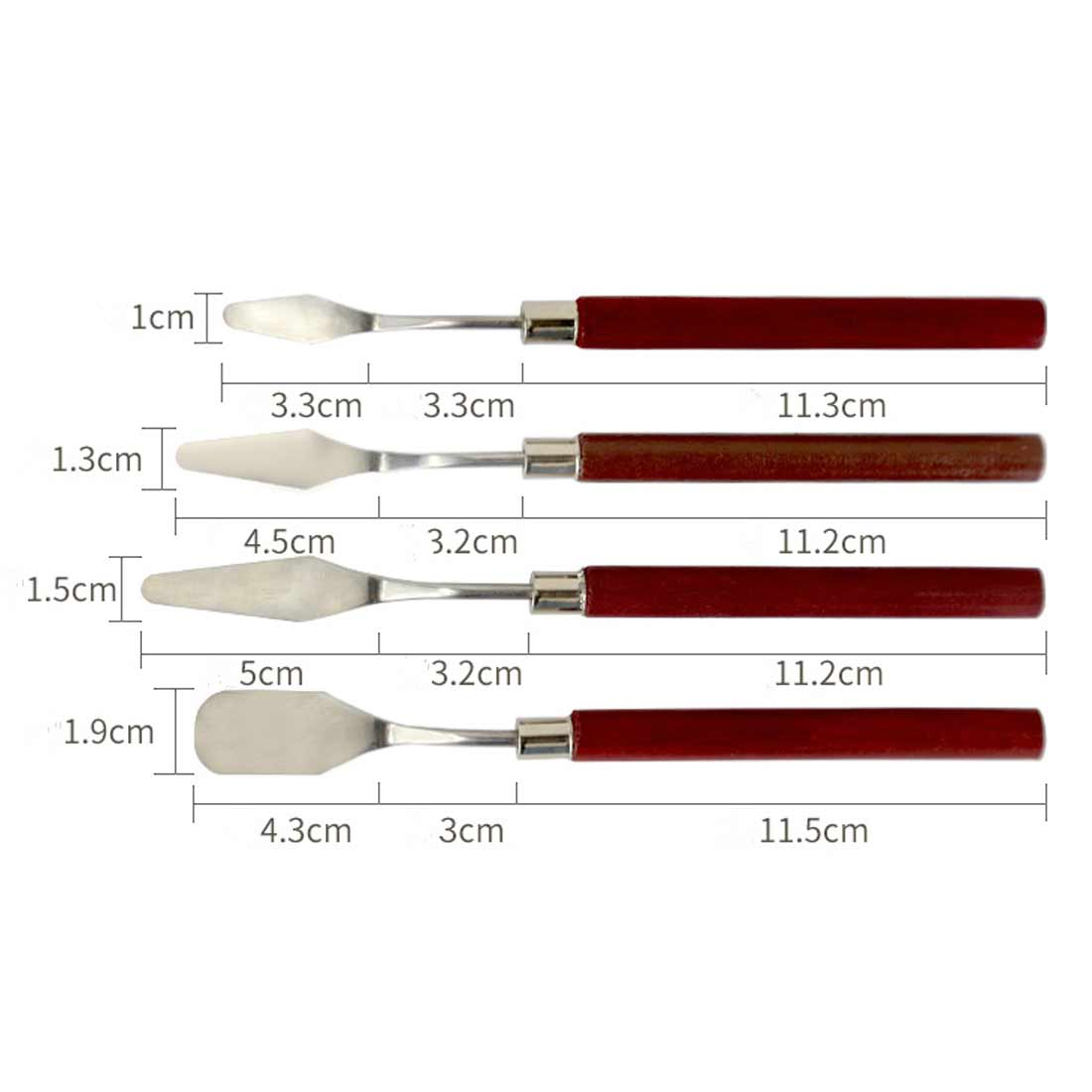 5pcs Palette Spatula Artist Stainless Steel Palette Oil Painting Knife Fine Arts Painting Tool Set Mixed Oil Painting