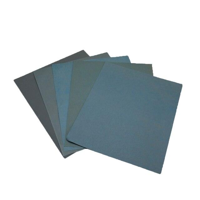 Juego de papel de lija de 5 piezas 2000 2500 3000 4000 5000 papel de lijado agua/lija abrasiva seca 230*280mm
