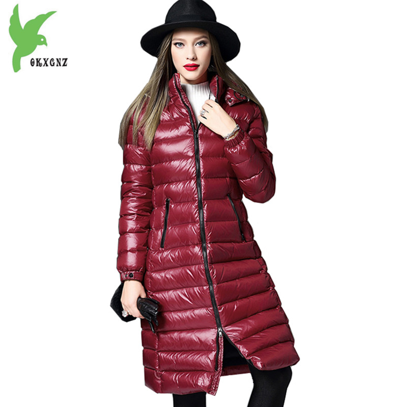 High Quality Women Winter Jacket Coat Down cotton Parkas Thicker Hooded Outerwear Plus size Medium length Warm Jacket OKXGNZ1145 down cotton jackets women winter warm coat new fashion hooded thicker casual outerwear plus size slim parkas female okxgnz ah203