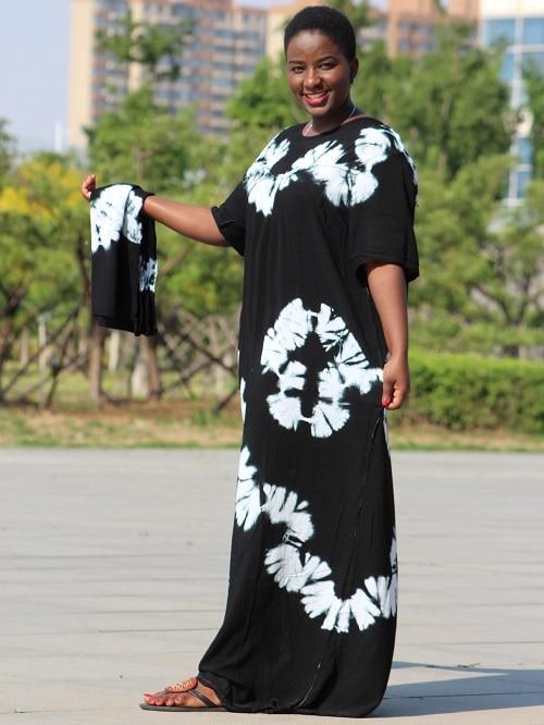 Dashikiage black cotton soft textured comfortable dress with a big scarf 9