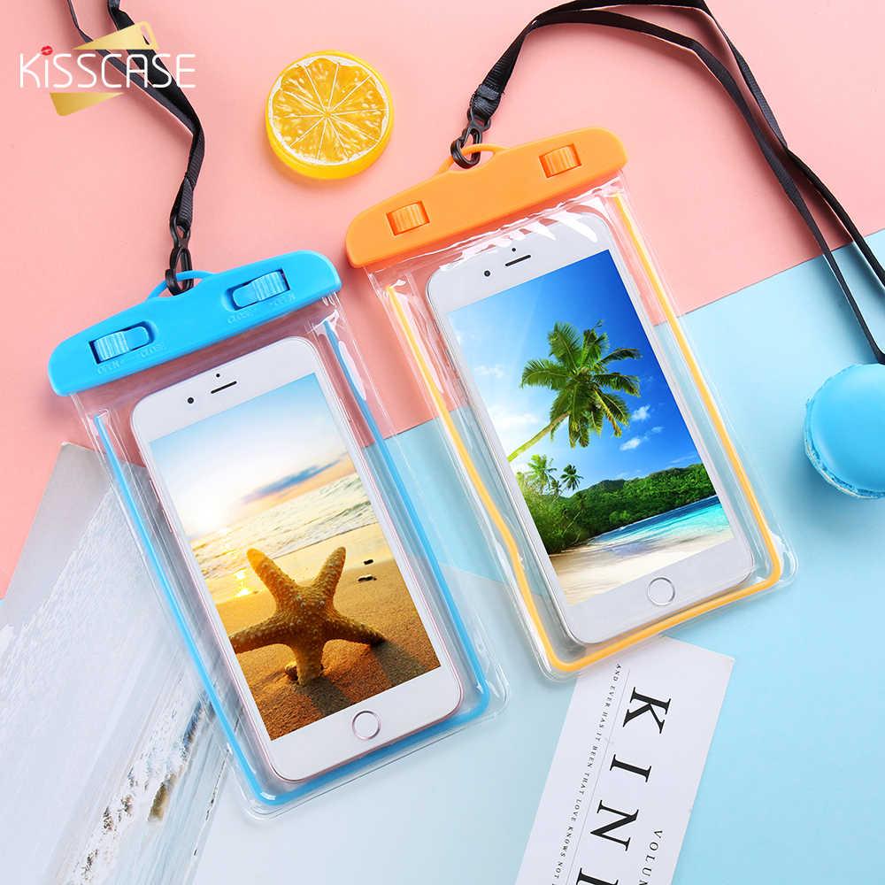 KISSCASE Водонепроницаемый чехол для телефона для samsung Galaxy a50 a40 a30 S10 S9 плюс Чехол подводный ручной Бесплатная чехол для iPhone 7 6 6s 5S 5