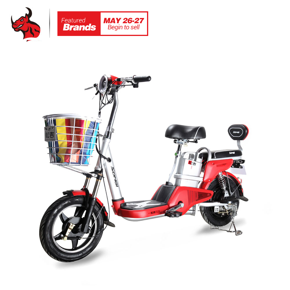 SONGI электромобиль удобный Сталь Электрический мотоцикл TDT287Z-48V Размеры 1600x350x1040 мм