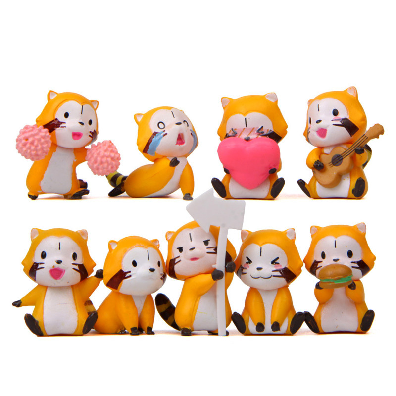 Doll Movie Raccoon Figure Miniature-Model 8pcs/Lot Play-House Warm Cartoon-Version Cute