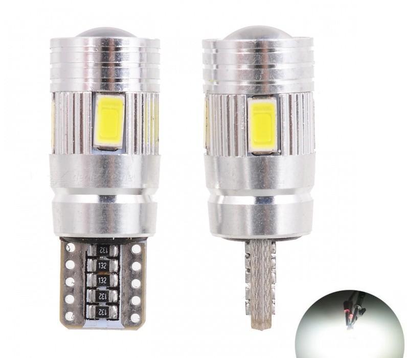 2 szt. T10 W5W 194 6W 6000K 6-SMD Z diod LED emitujących światło - Światła samochodowe - Zdjęcie 5