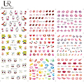 1 Sheet Nail Art Cartoon/Lips Designs Water Transfer Nail Tips Decals Beauty Full Wraps Stickers DIY Manicure Decor STZ310-324