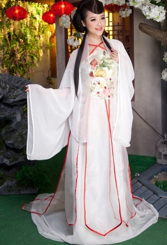 High-End Quality Costume tang suit hanfu cosplay female costume white Chinese Folk Dance  vetements de l Royal roupas