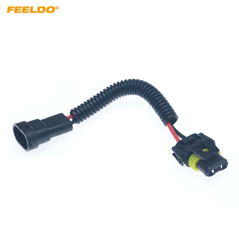 FEELDO 9005/9006/9012 Male To H11 Female Auto LED HID Headlight Wiring Cable Connector Plug Socket Wire Adapter #6092