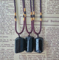 Natural Tourmaline Golden Pendant Bead Natural Black Energy Stone Pendant Jewelry Fashion