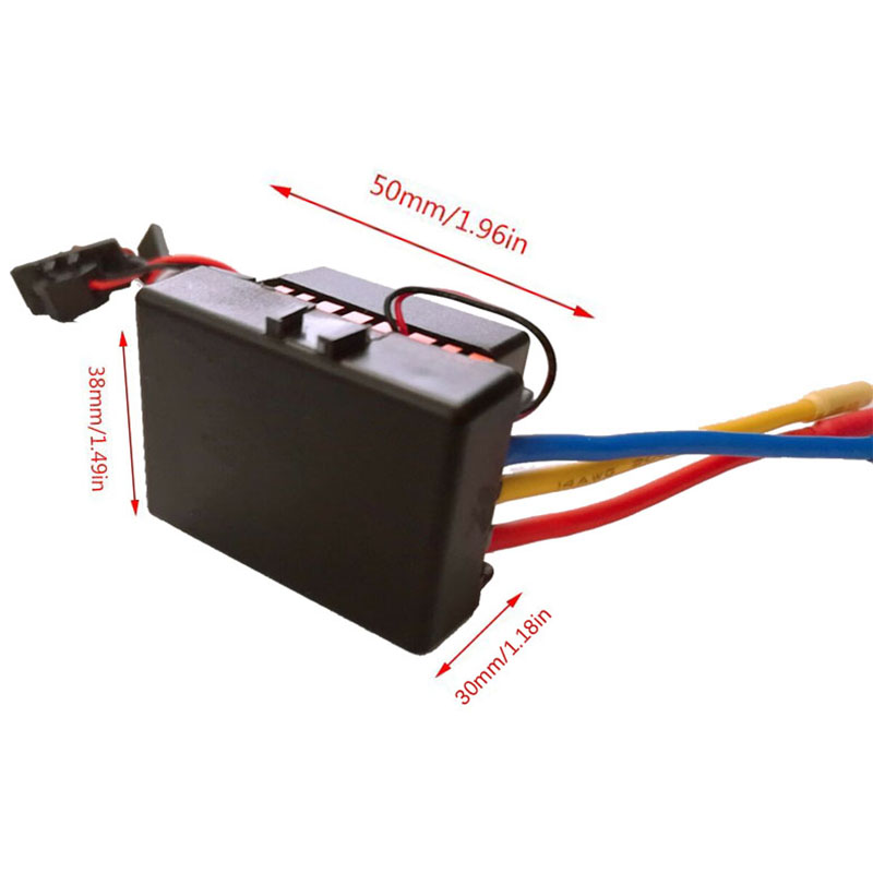 Waterproof 60A Rc Brushless Esc Bec Car Parts Electric Speed Controller With 5 8V 3A Bec For 1 10 Rc Car Truck in AC DC Adapters from Consumer Electronics