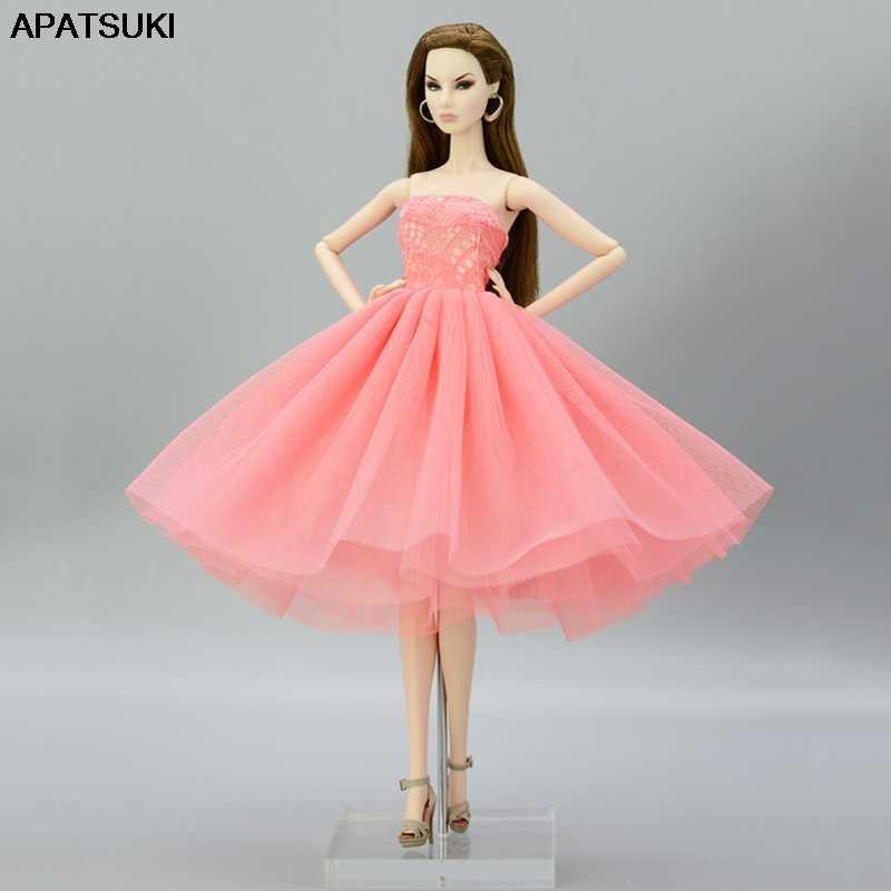 Muñecas Para Accesorios Verano Ropa Vestidos Vestido Rosa