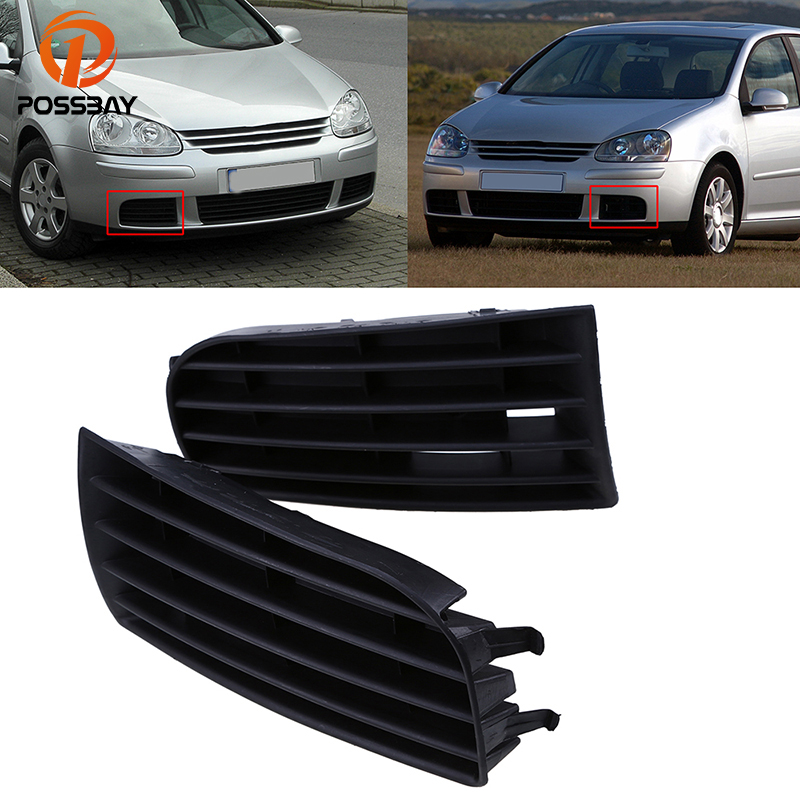 POSSBAY Fit for VW Golf MK5 2004/2005/2006/2007/2008/2009 High Quality Car Front Bumper Lower Grille Grills Cover Car-styling