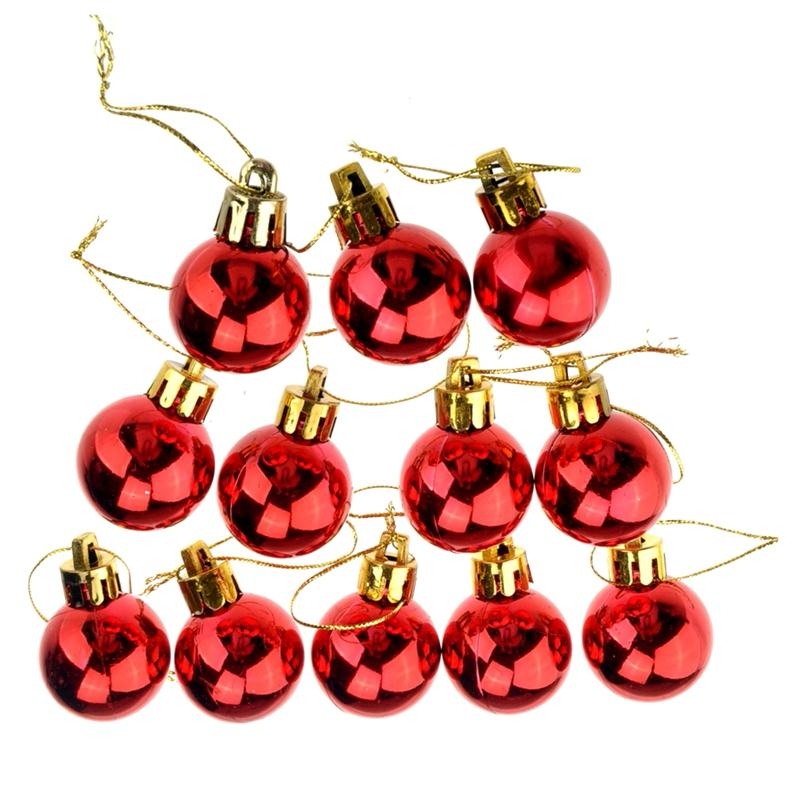 3Cm Shining Christmas Baubles Round Balls Christmas Tree Party Decorative Balls -3896