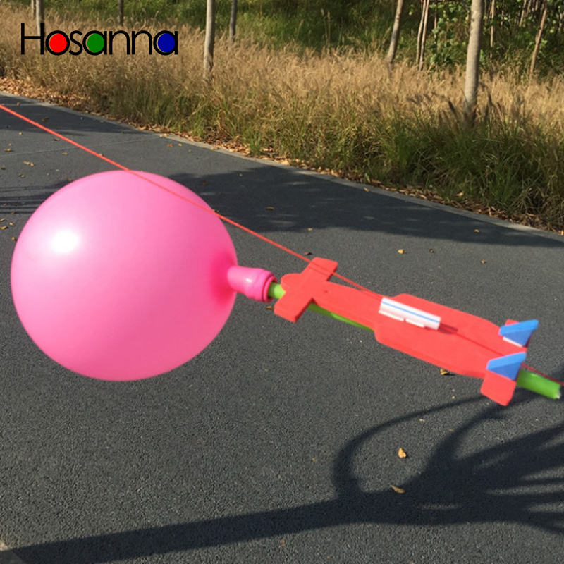 Kids Science Toys Balloon Rocket DIY Kit Learning Physics Educational Toys For Children