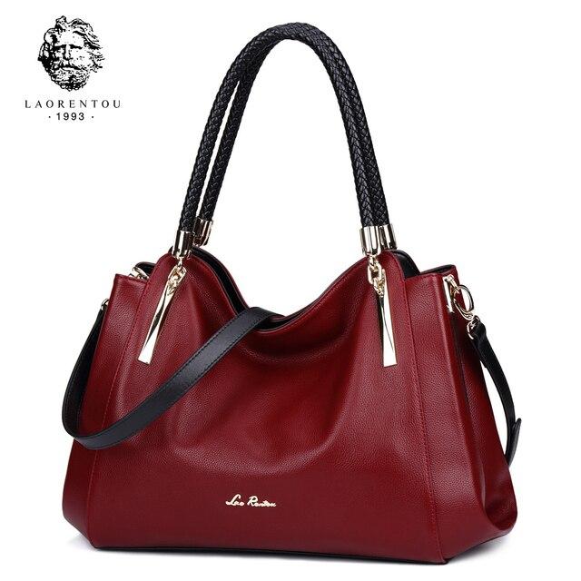 Laorentou из натуральной кожи роскошные Сумки дизайнерский бренд дамы сумка Повседневное сумка Мода Корова кожа Для женщин Сумки N50