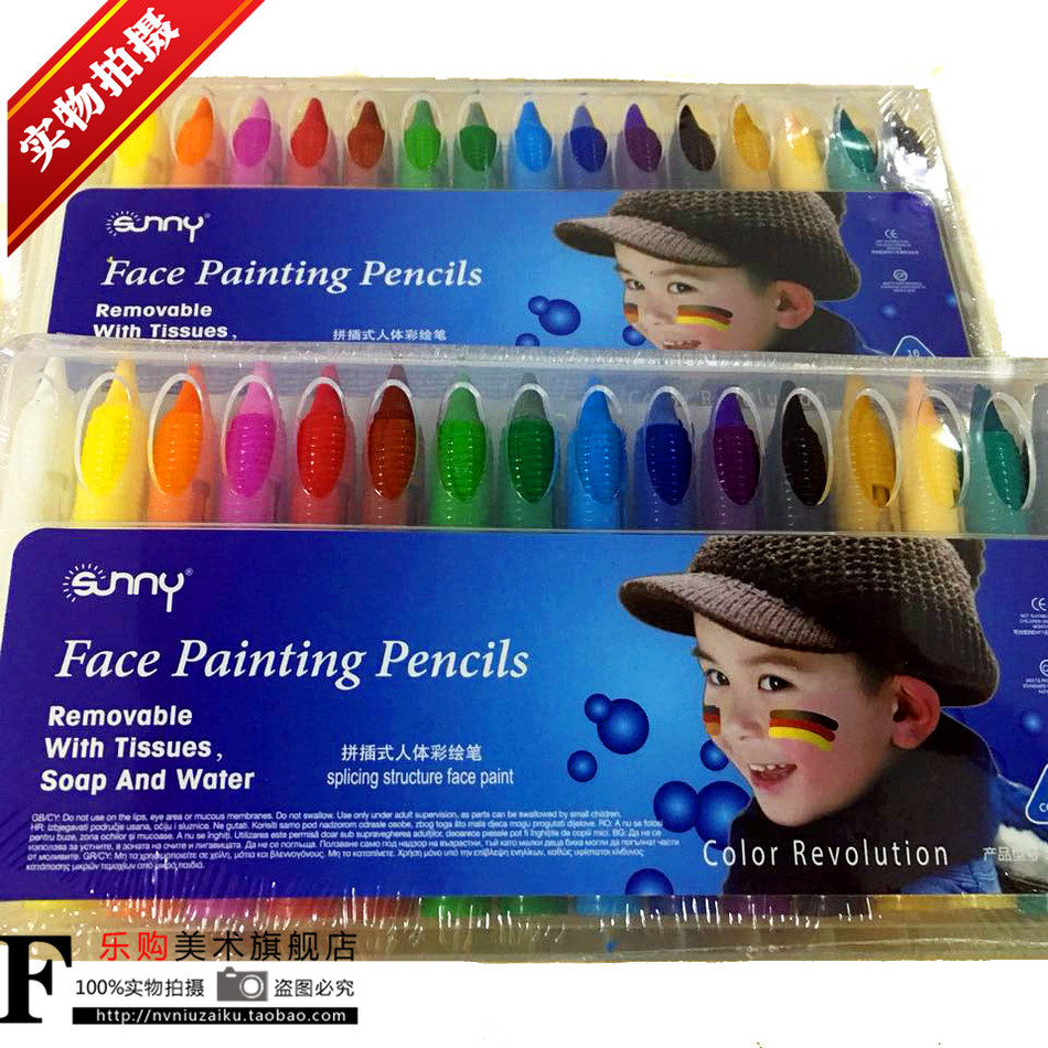 16 Colors Face Painting Pencils Splicing Structure Face Paint Crayon Body Painting Pen Stick For Children Party Makeup