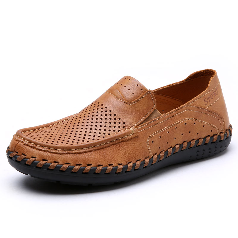 Genuine Leather Men Casual Shoes Loafers Quality Men Flat Walking Moccasins Brown Khaki Man Fashion Luxury SneakersGenuine Leather Men Casual Shoes Loafers Quality Men Flat Walking Moccasins Brown Khaki Man Fashion Luxury Sneakers