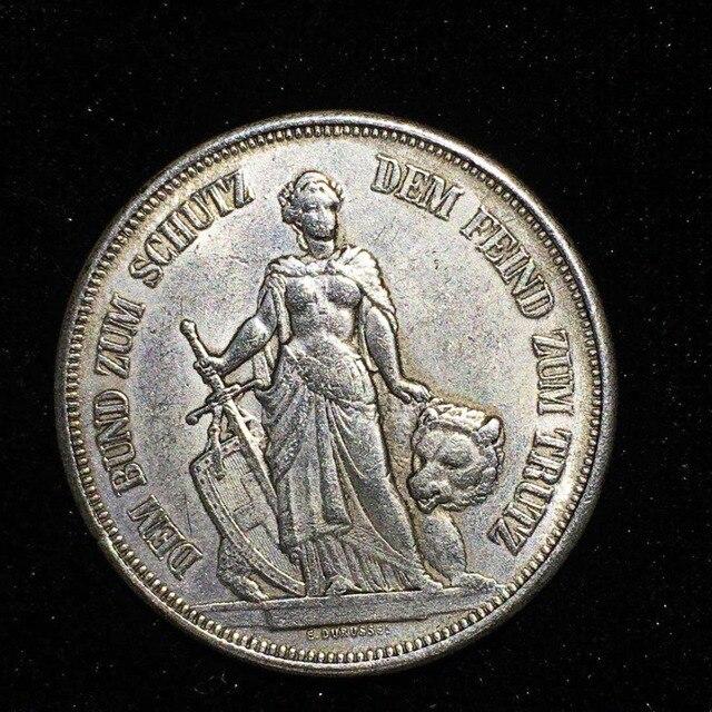 1885 Bern Francia 5 franc copia moneda recuerdo monedas Ucrania accesorios de decoración del hogar monedas coleccionables Moneda de Polonia