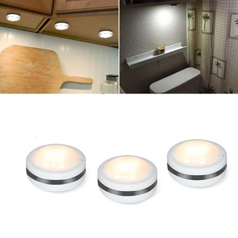 3Pcs Remote Control Under Cabinet Light Kitchen Wardrobe ...