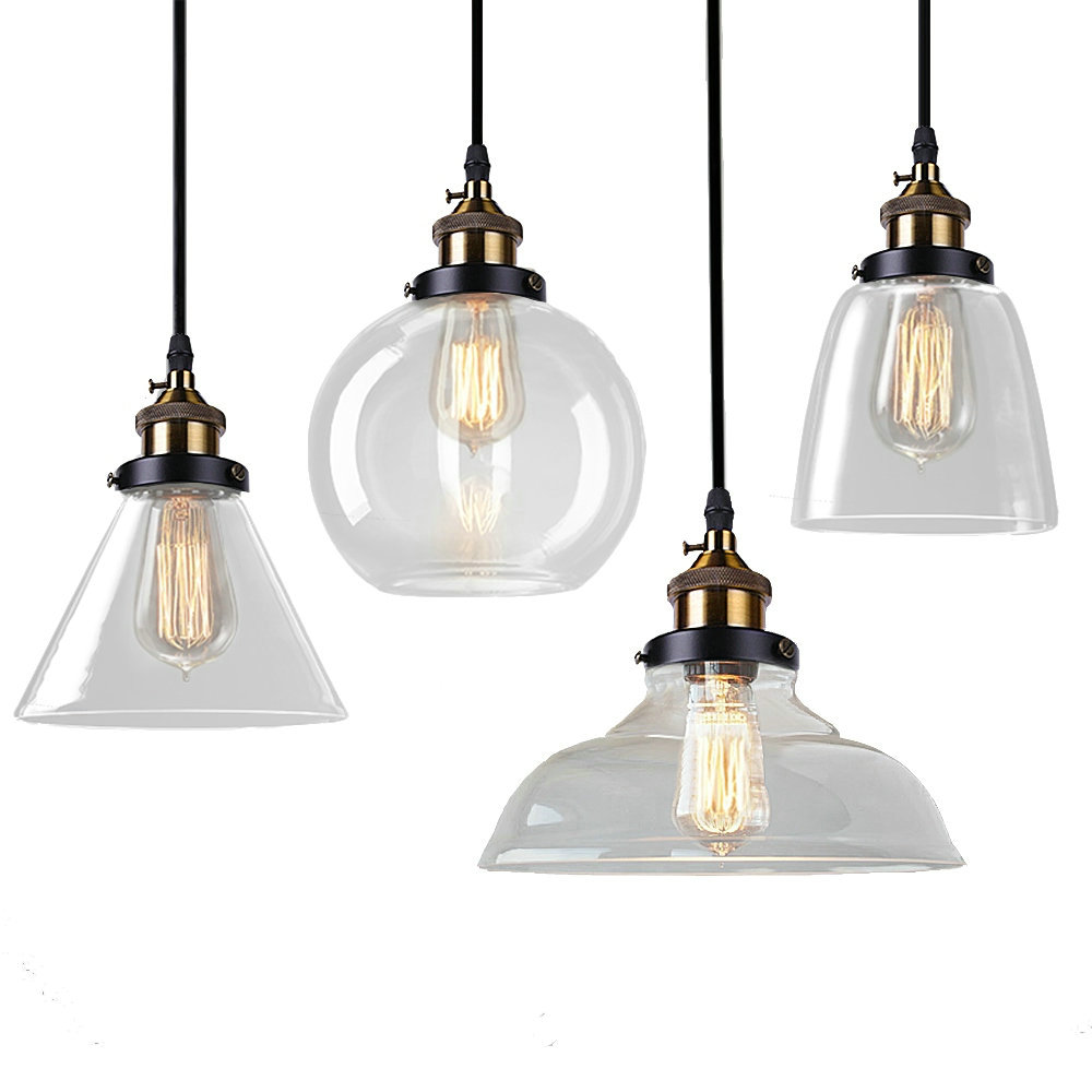 Glass Pendant Lamp Modern Vintage Edison Bulbs Bar Restaurant Bedrooms Large Shopping E27 Art Diningroom vintage pendant lights retro water pipe pendant lamp e27 holder edison bulbs lighting fixture for warehouse diningroom ktv bar