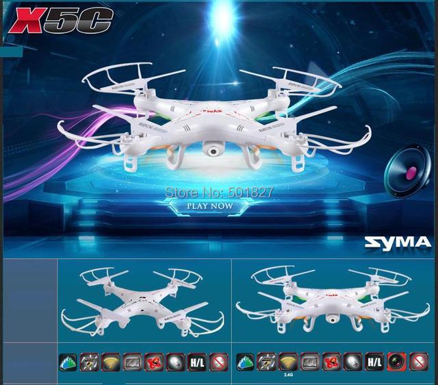 SYMA X5C 2.4G 6-Axis 4CH R/C Quadcopter R/C Helicóptero Juguetes RC Drone Con Cámara de ALTA DEFINICIÓN envío gratis