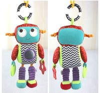 1pcs Baby Brand Activity Toys Robot Style Baby Rattle Music Comforter Toy Baby Toy Rattles Children