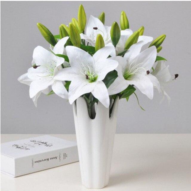 14 Cm Kunstliche Lilie Blumen Vivid Silk Blume Kopfe Simulation
