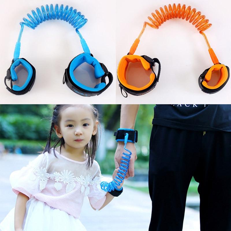 1.5M Kids Baby Toddler Anti-lost Wrist Link Band Children Bracelet Wristband Elastic Harness Safety Leash Strap 88 M09
