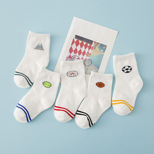 5 pair of socks children baby socks Group South Korea cartoon football sports socks cotton jacquard