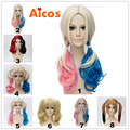 Suicide Squad Harley Quinn Short Curly Cosplay Wig Heat Resistant Hair Wigs Synthetic Purecas lace front wig / no lace front wig