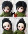 1/8 1/12 BJD Wigs Fashion black fur wig bjd sd short wig for DIY dollfie